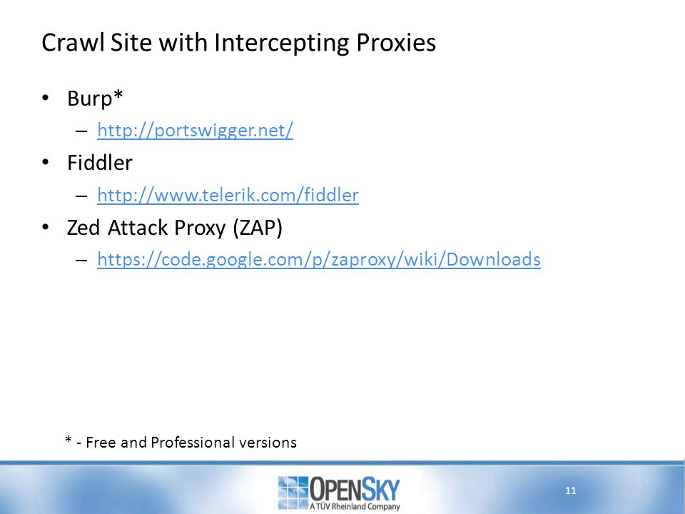 Crawl Site with Intercepting Proxies