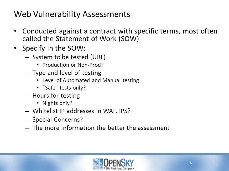 Web Vulnerability Assessments