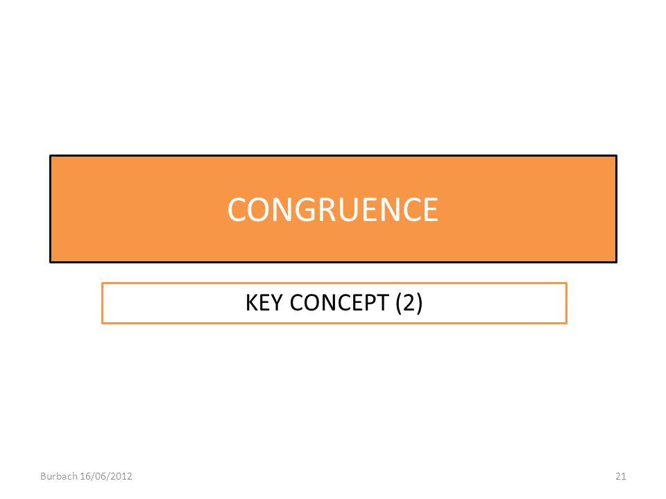 CONGRUENCE KEY CONCEPT (2) Burbach 16/06/2012