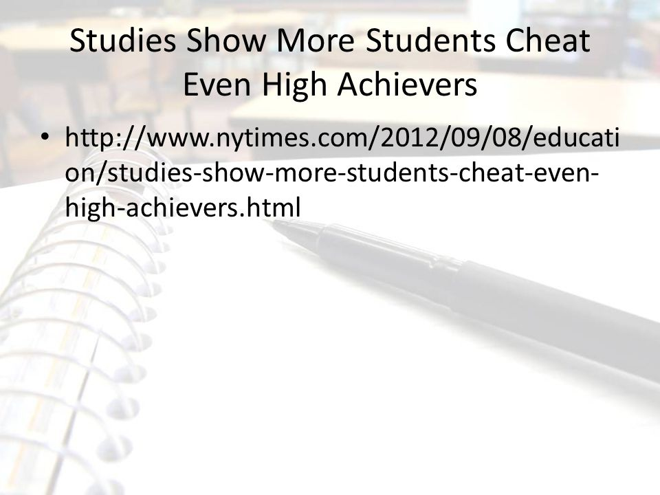 Studies Show More Students Cheat Even High Achievers