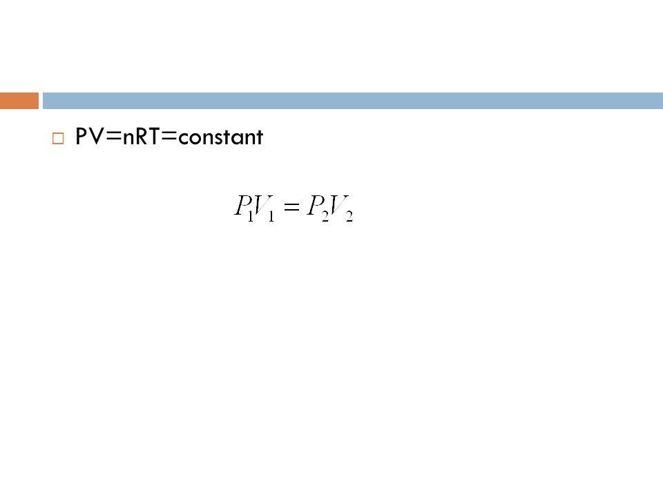 PV=nRT=constant