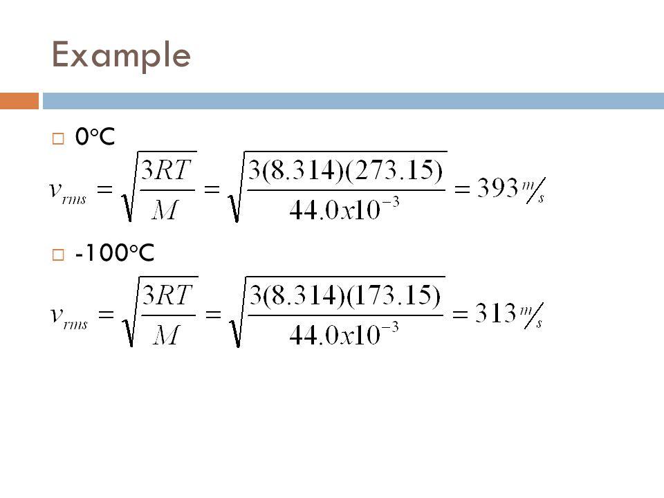 Example 0oC -100oC