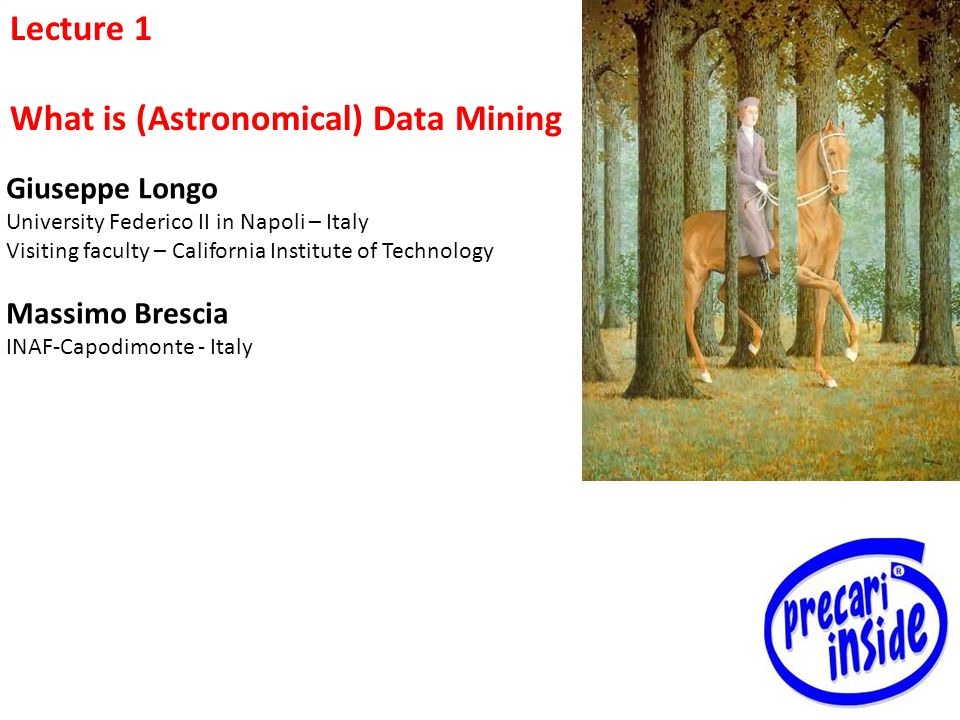What is (Astronomical) Data Mining