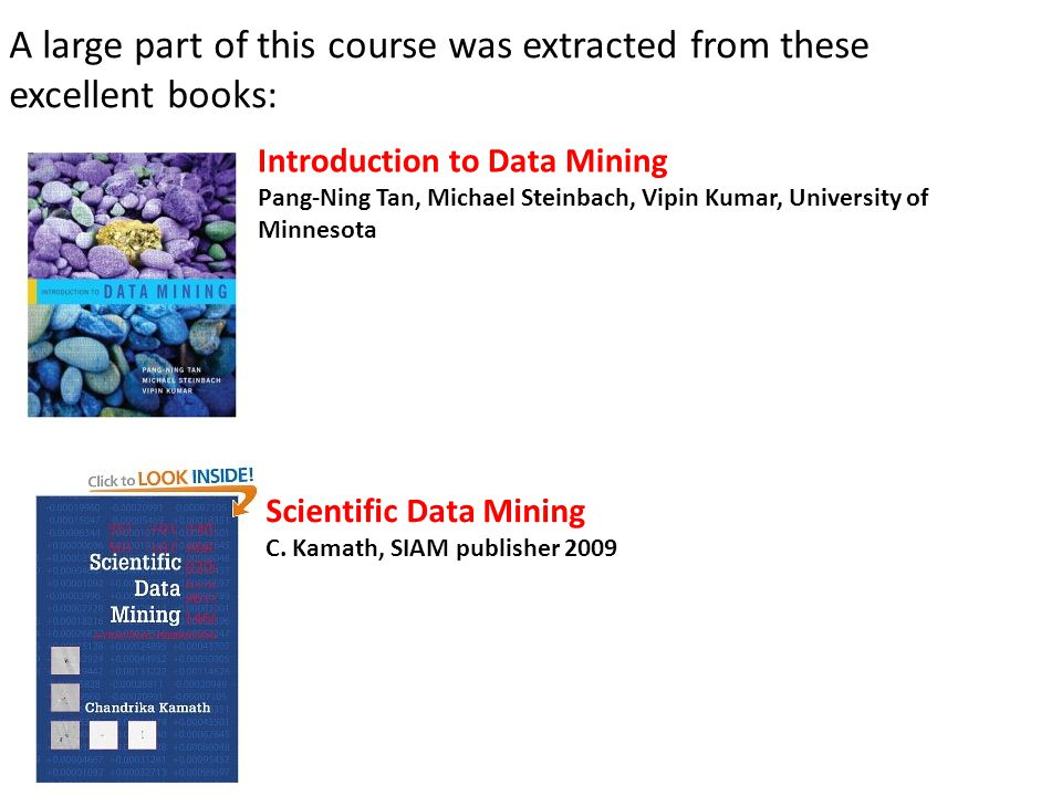 A large part of this course was extracted from these excellent books:
