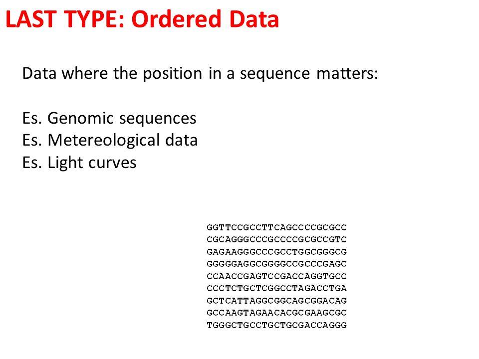 LAST TYPE: Ordered Data