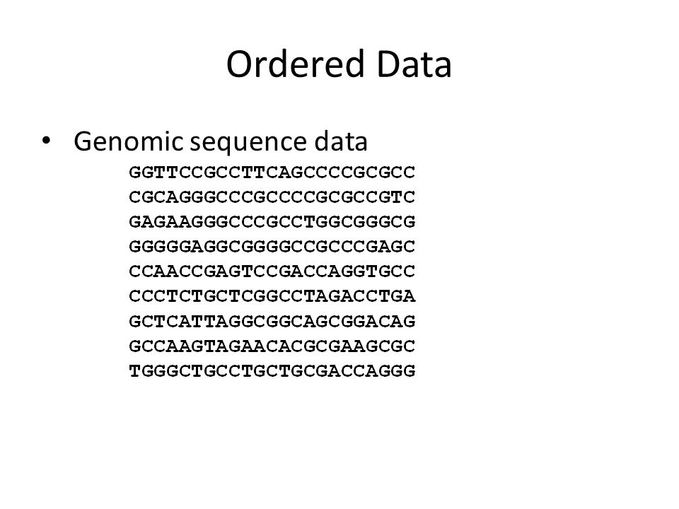 Ordered Data Genomic sequence data