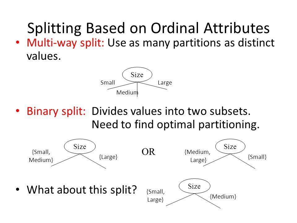Splitting Based on Ordinal Attributes