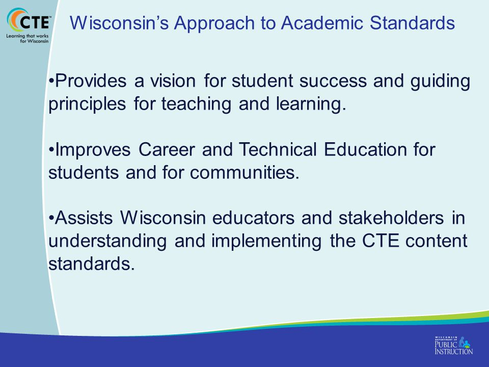 Wisconsin's Approach to Academic Standards