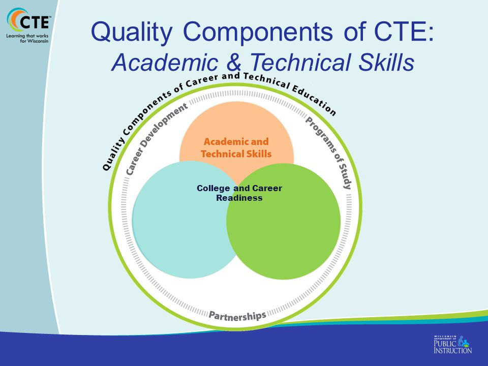 Quality Components of CTE: Academic & Technical Skills