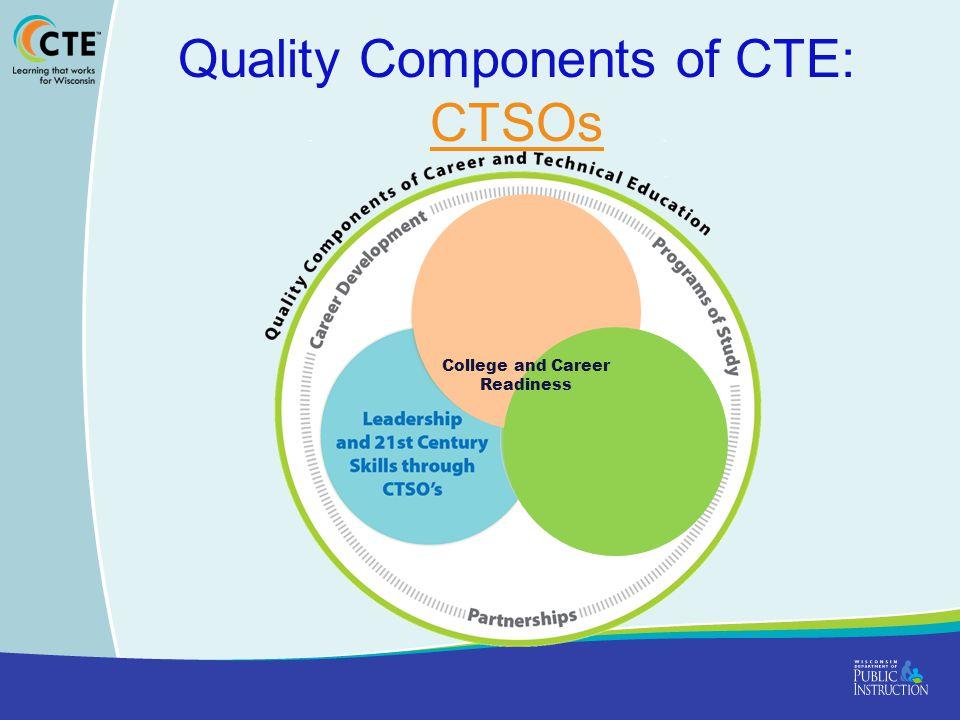 Quality Components of CTE: CTSOs