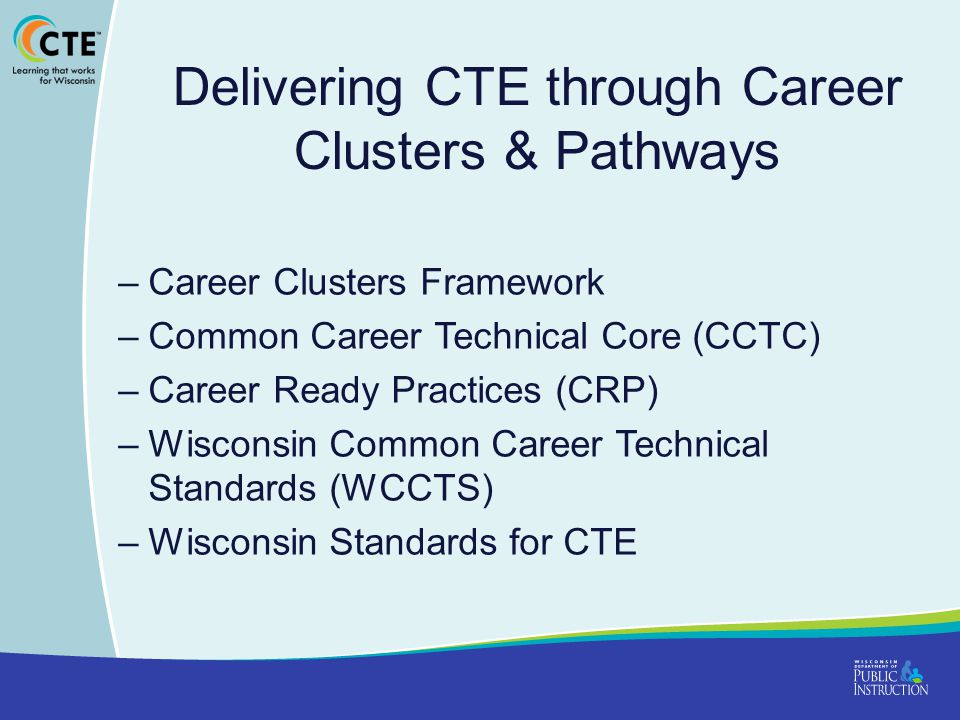 Delivering CTE through Career Clusters & Pathways