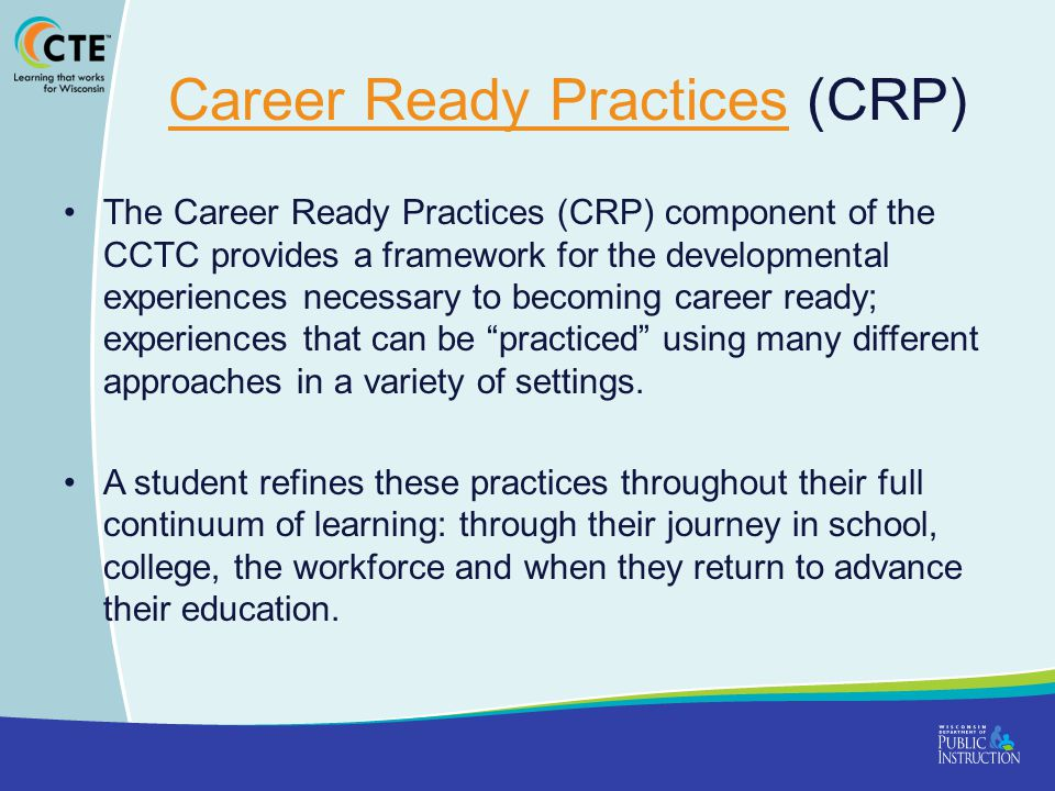 Career Ready Practices (CRP)