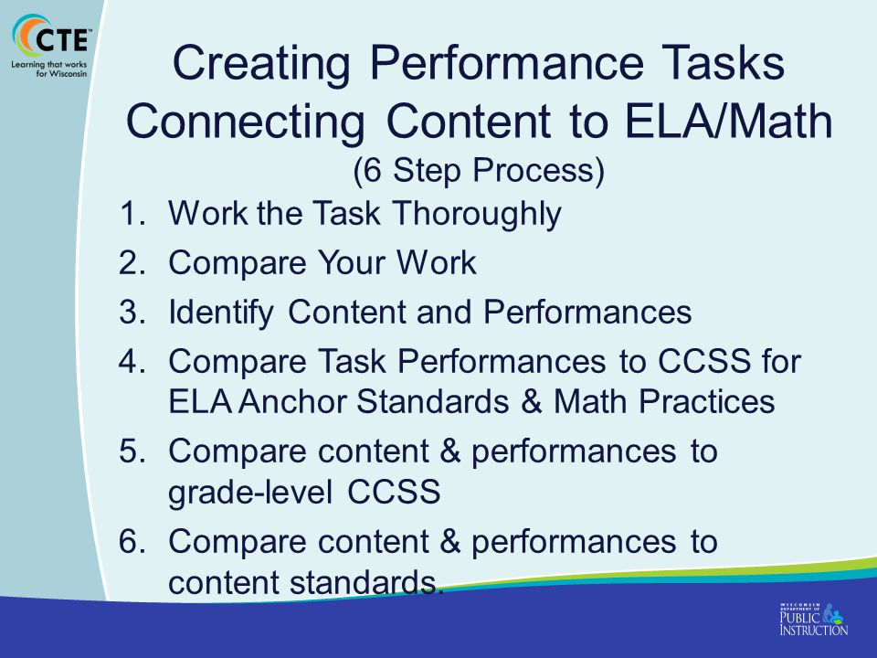 Creating Performance Tasks Connecting Content to ELA/Math (6 Step Process)