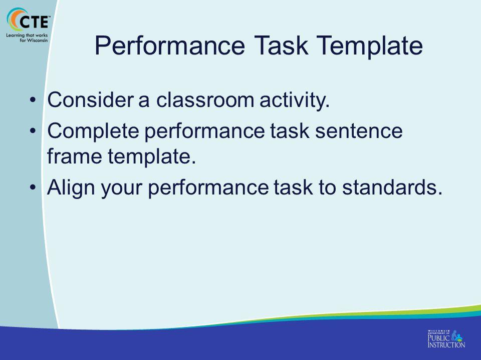 Performance Task Template