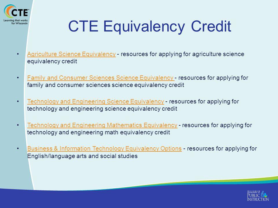CTE Equivalency Credit