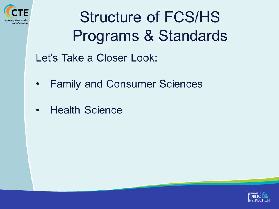 Structure of FCS/HS Programs & Standards