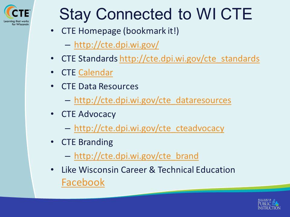 Stay Connected to WI CTE