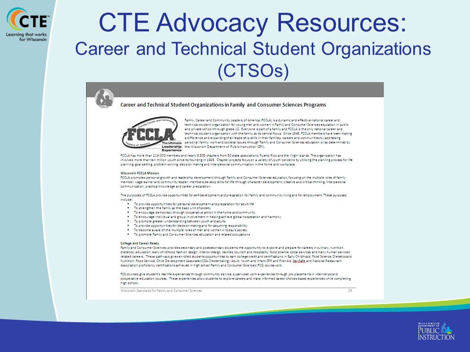 CTE Advocacy Resources: Career and Technical Student Organizations (CTSOs)