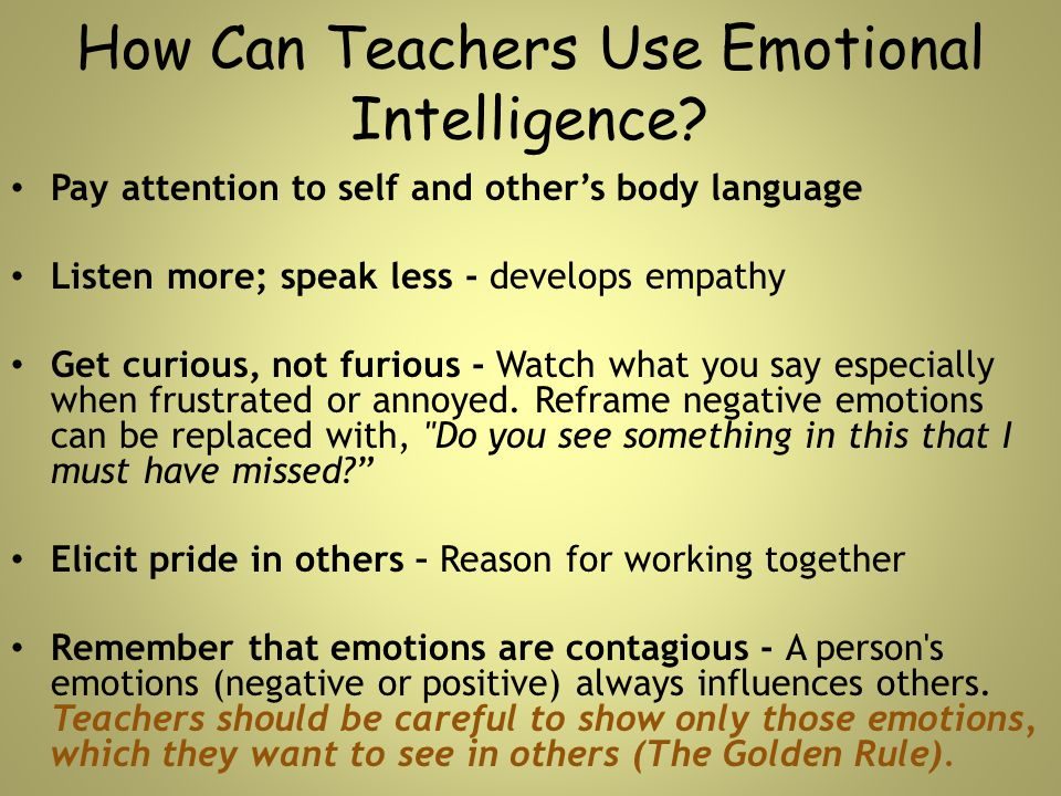 How Can Teachers Use Emotional Intelligence