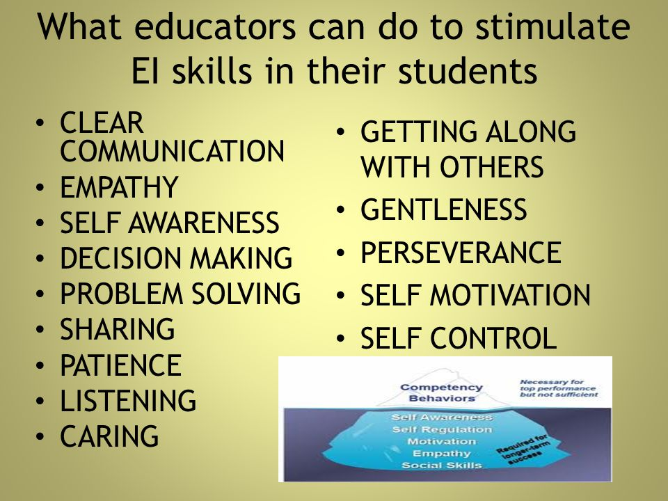 What educators can do to stimulate EI skills in their students