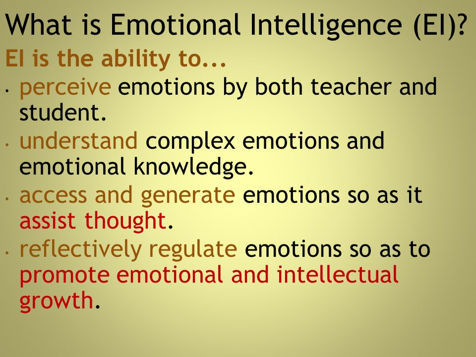 What is Emotional Intelligence (EI)