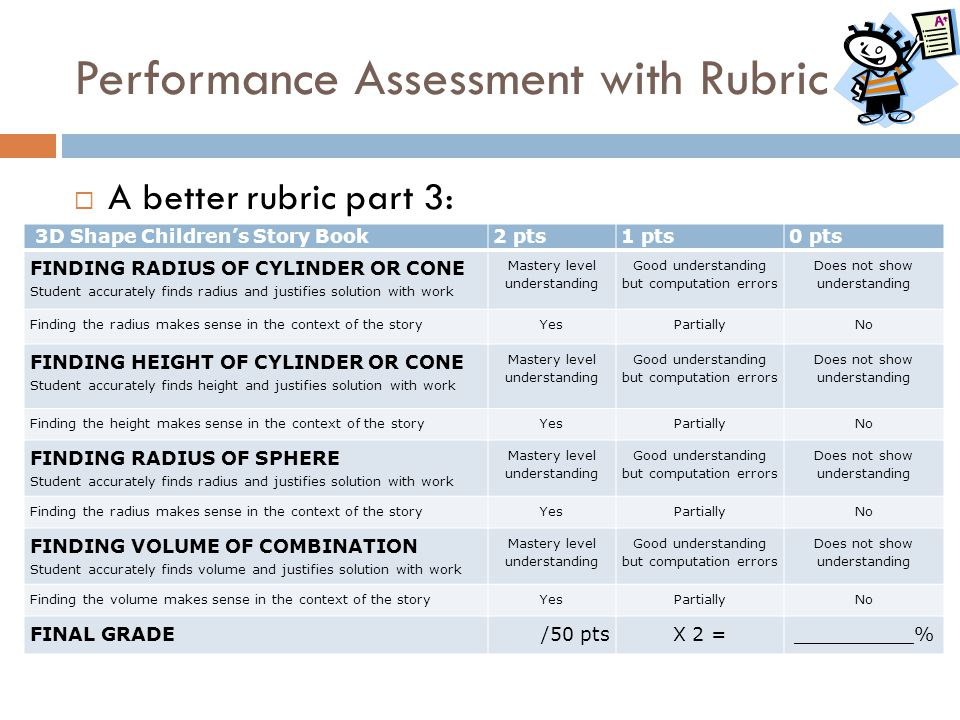 Performance Assessment with Rubric
