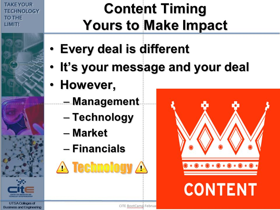 Content Timing Yours to Make Impact