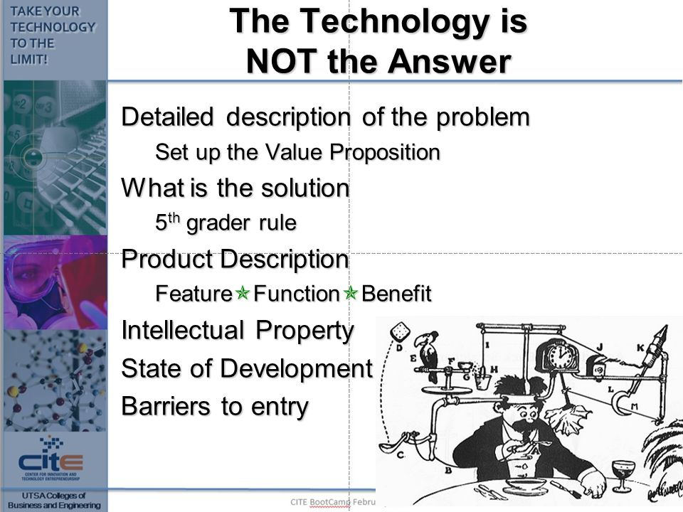 The Technology is NOT the Answer