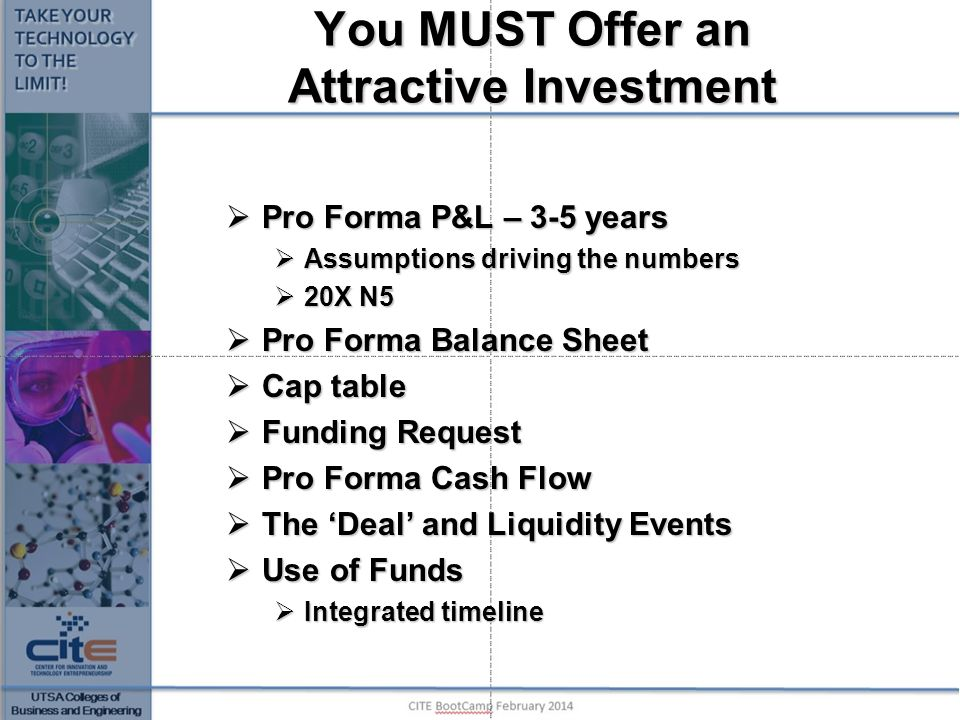 You MUST Offer an Attractive Investment