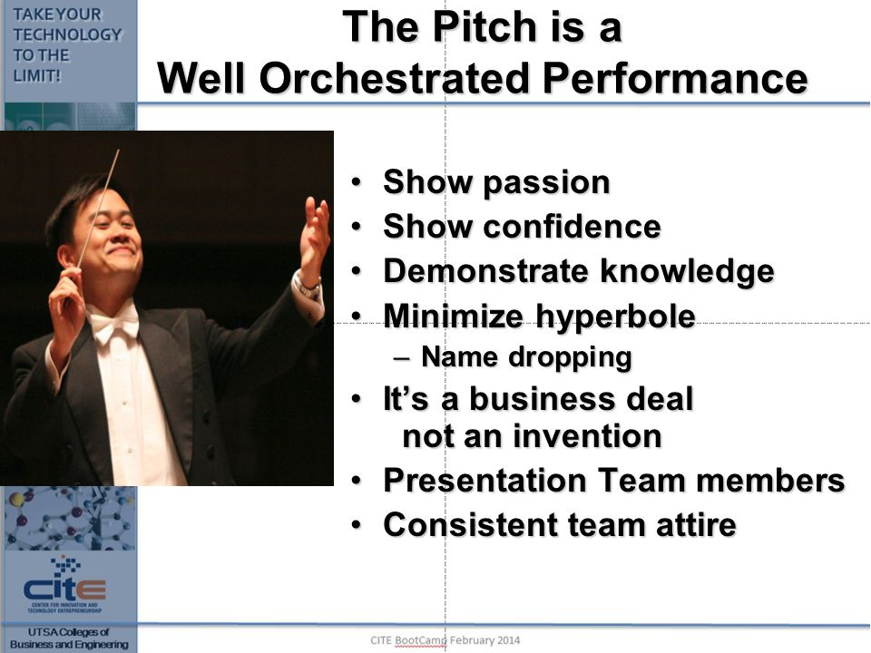 The Pitch is a Well Orchestrated Performance