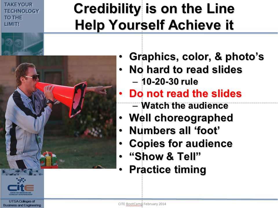 Credibility is on the Line Help Yourself Achieve it