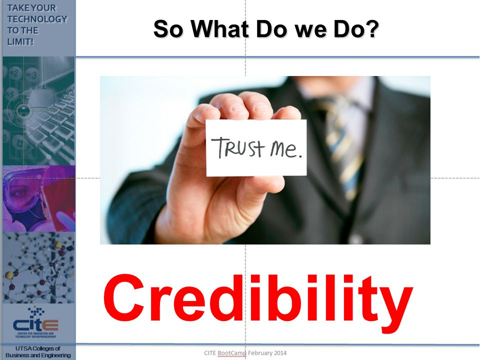 So What Do we Do Credibility