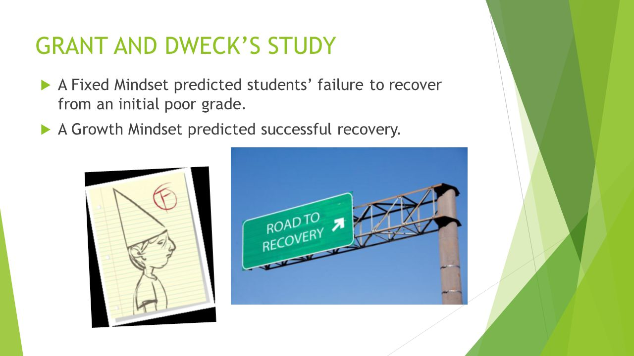 GRANT AND DWECK'S STUDY