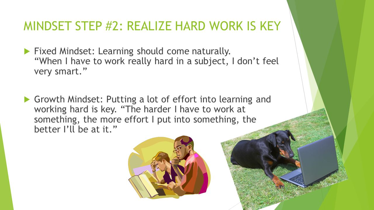 MINDSET STEP #2: REALIZE HARD WORK IS KEY