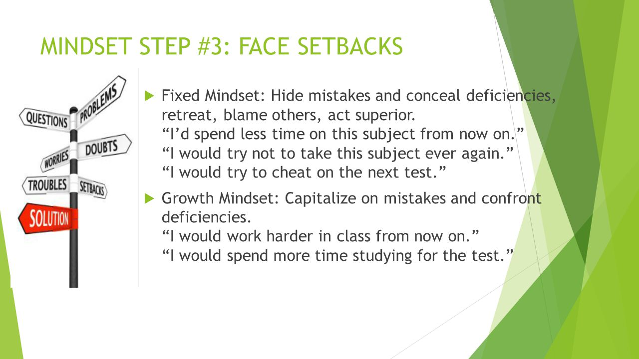 MINDSET STEP #3: FACE SETBACKS