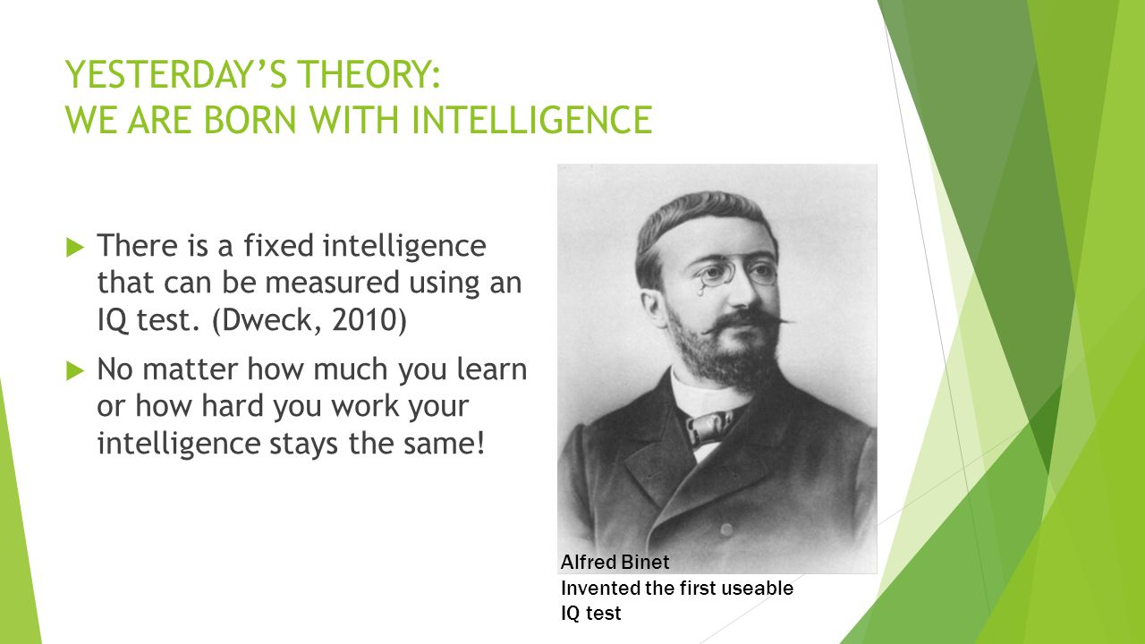 YESTERDAY'S THEORY: WE ARE BORN WITH INTELLIGENCE