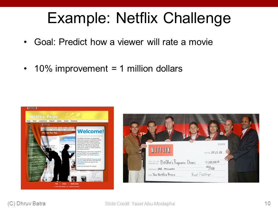Example: Netflix Challenge