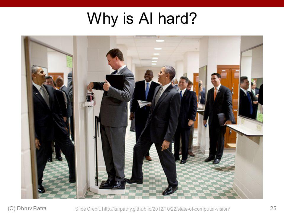 Why is AI hard (C) Dhruv Batra