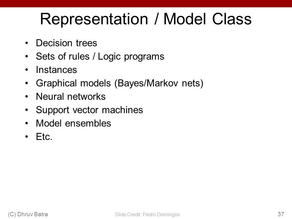 Representation / Model Class