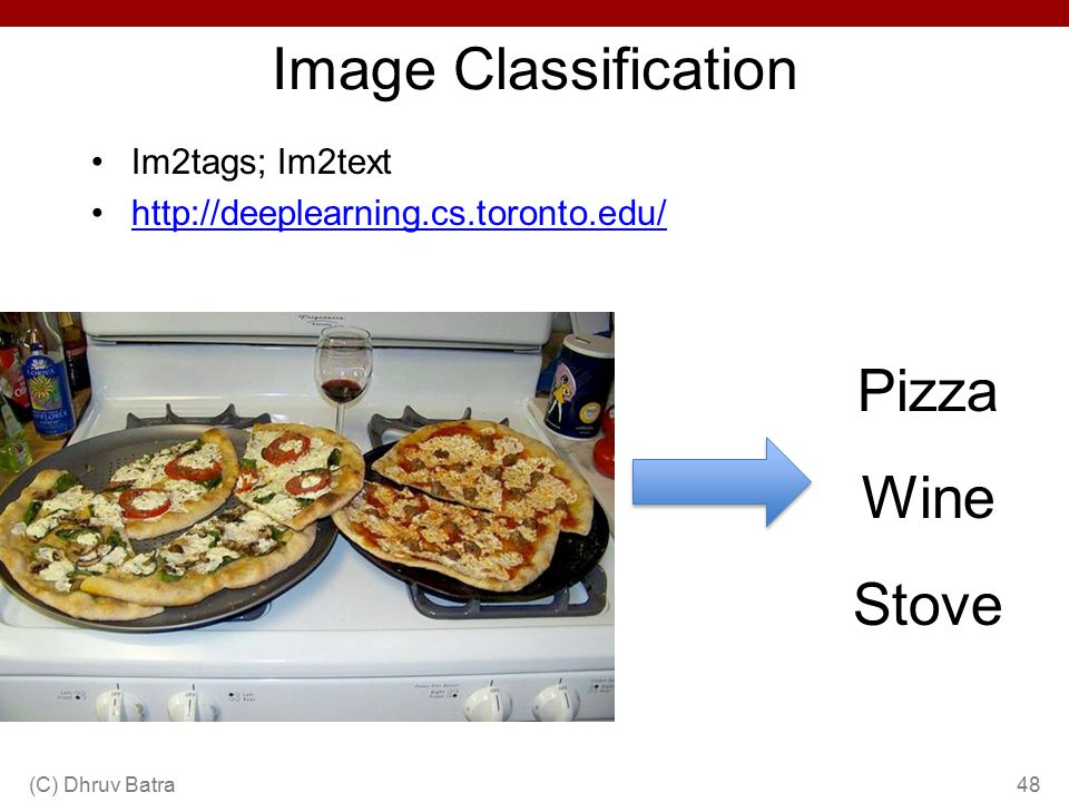 Image Classification Pizza Wine Stove Im2tags; Im2text