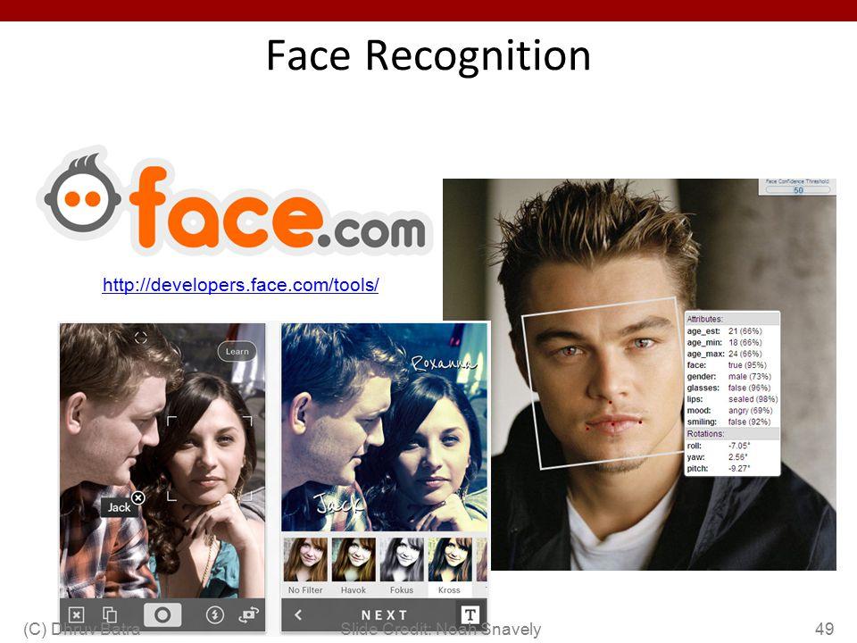 Face Recognition http://developers.face.com/tools/ (C) Dhruv Batra