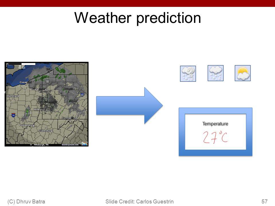 Weather prediction (C) Dhruv Batra Slide Credit: Carlos Guestrin 57