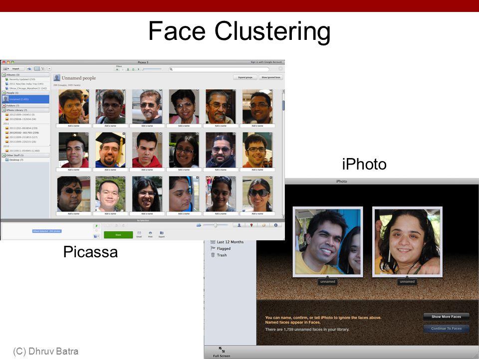 Face Clustering iPhoto Picassa (C) Dhruv Batra