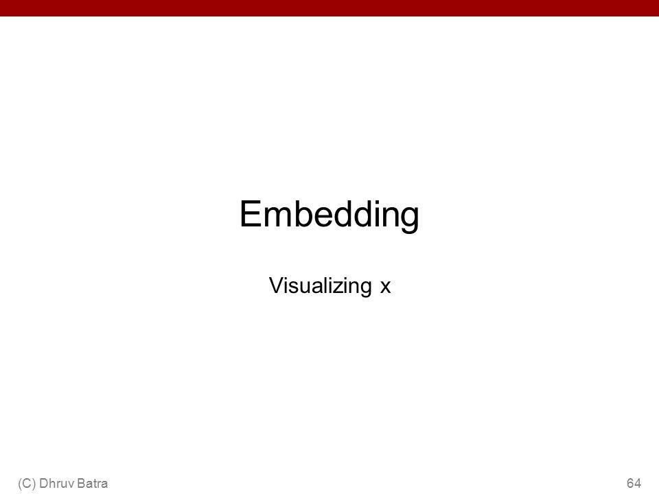 Embedding Visualizing x (C) Dhruv Batra