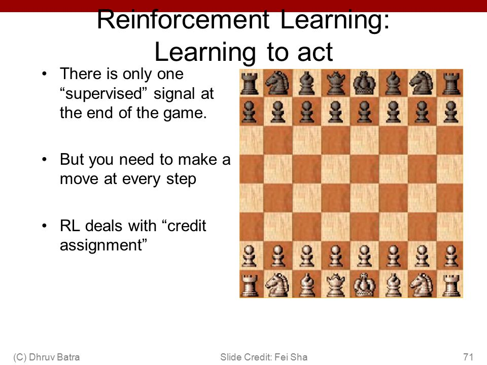 Reinforcement Learning: Learning to act