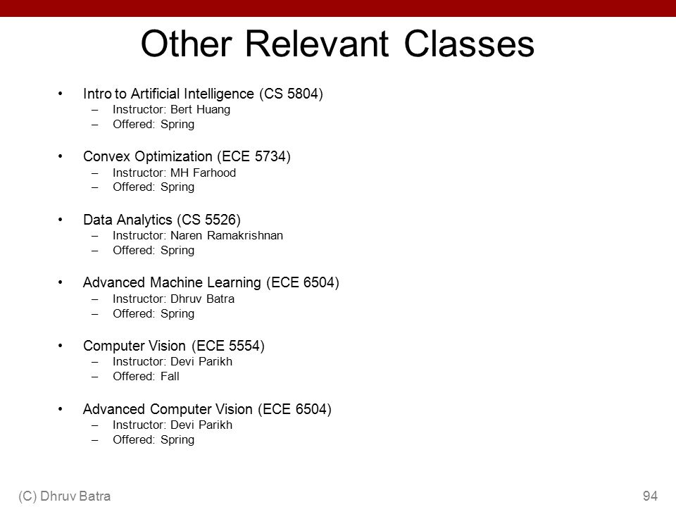 Other Relevant Classes