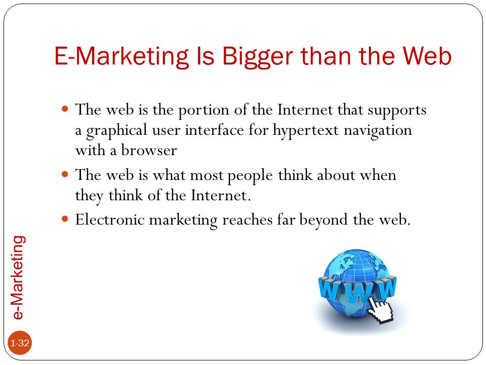 E-Marketing Is Bigger than the Web