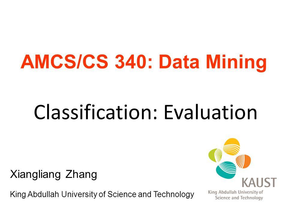 Classification: Evaluation