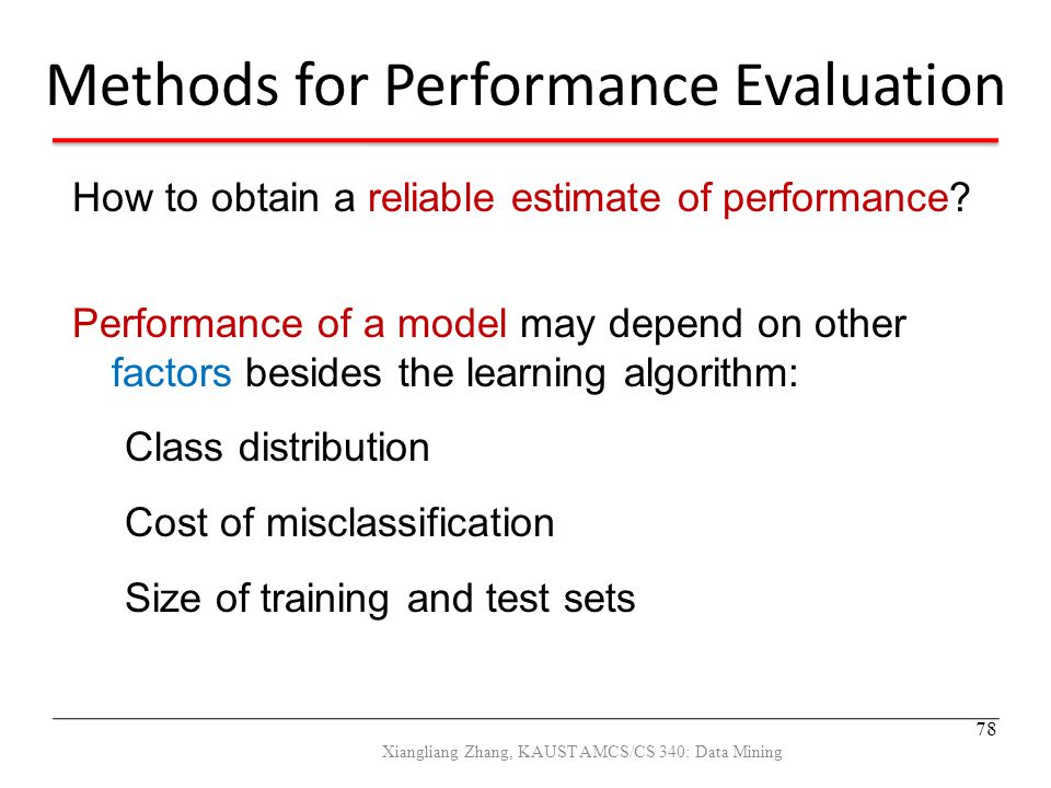 Methods for Performance Evaluation