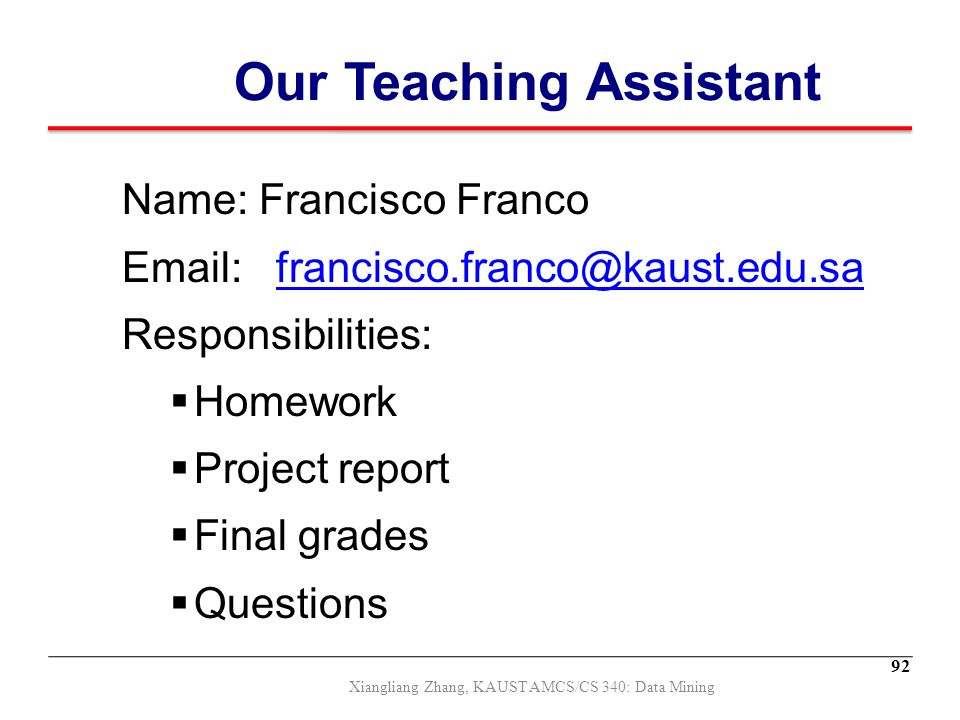 Our Teaching Assistant